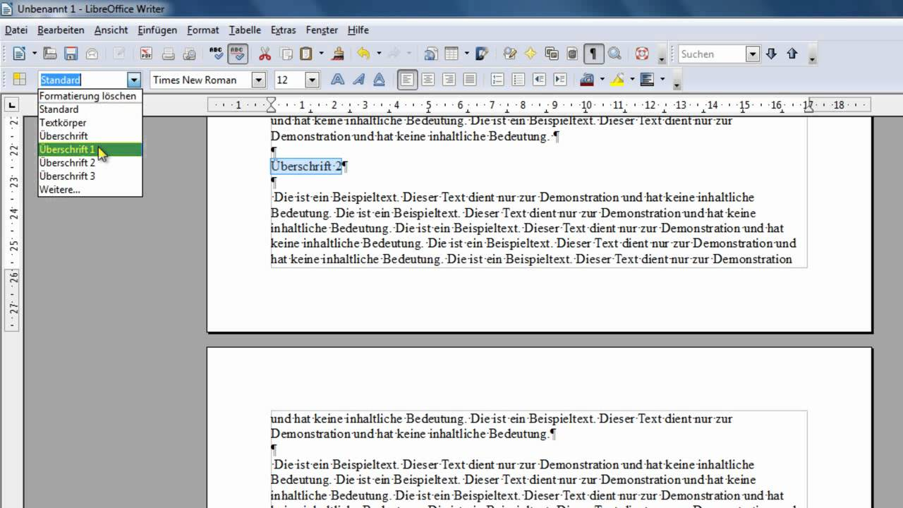 how to add table libre office writer