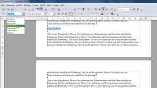 LibreOffice und OpenOffice Writer - Kapitelüberschrift in die Kopfzeile einfügen