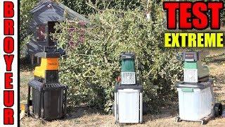 3 broyeurs de végétaux LIDL PARKSIDE VS ALDI FERREX VS TACKLIFE TEST