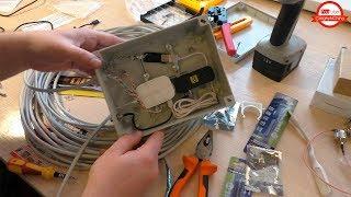 Как собрать Герметичный Бокс для роутера и 3G / 4G модема с выходом на внешнюю антенну