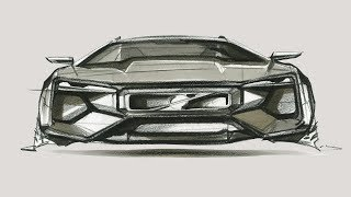 Car design sketch(Front View)