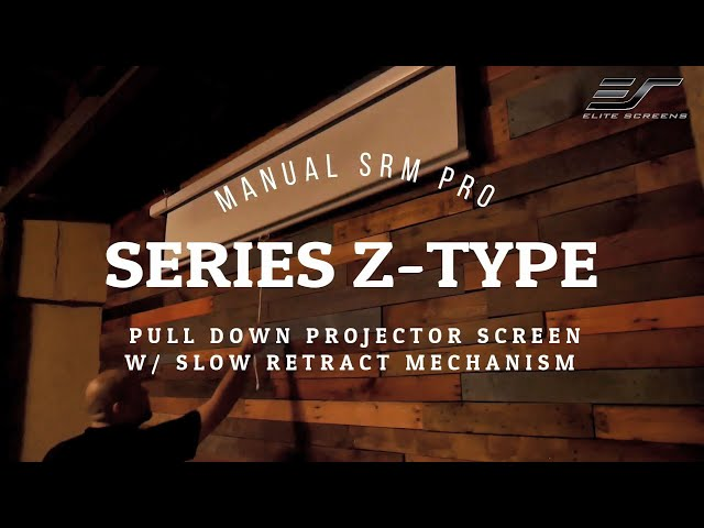 Elite Screens Manual SRM Pro Series Z Type Product Video | Manual Pull-Down Projection Screen