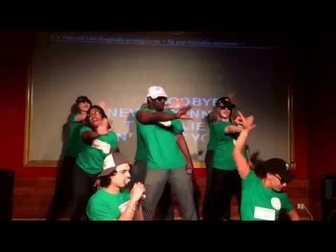 Gotham city karaoke league F.U.C.K.E.R.S. Performing Never Gonna Give You Up