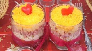 Салат Тайная страсть. Рецепты вкусных слоеных салатов. Просто Объедение