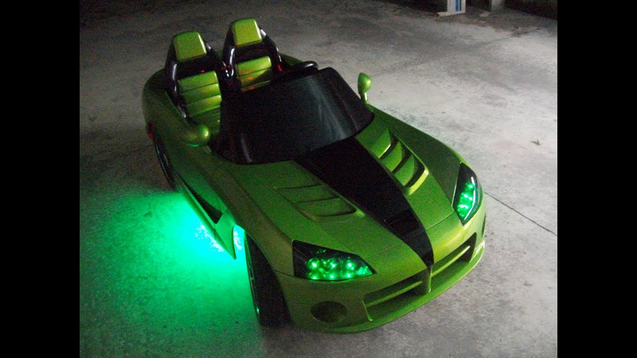 modified power wheels custom built dodge viper venom pt 3 youtube. Black Bedroom Furniture Sets. Home Design Ideas