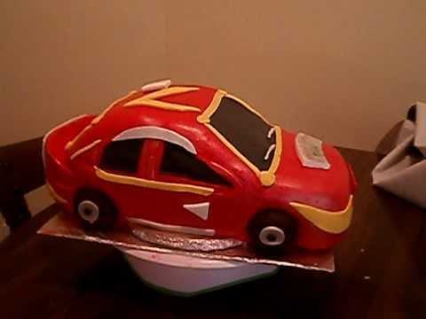 Boys birthday cake car cake YouTube