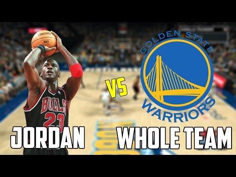 Can Michael Jordan Beat The Warriors Playing By Himself? NBA 2K17 Gameplay!