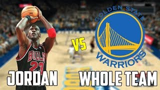 Can Michael Jordan Beat The Warriors Playing By Himself? NBA 2K17 Gameplay!