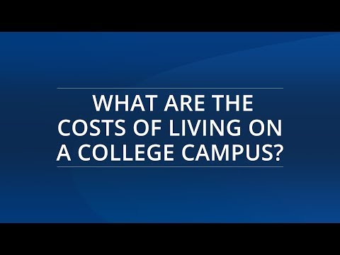 What Are the Costs of Living on a College Campus?