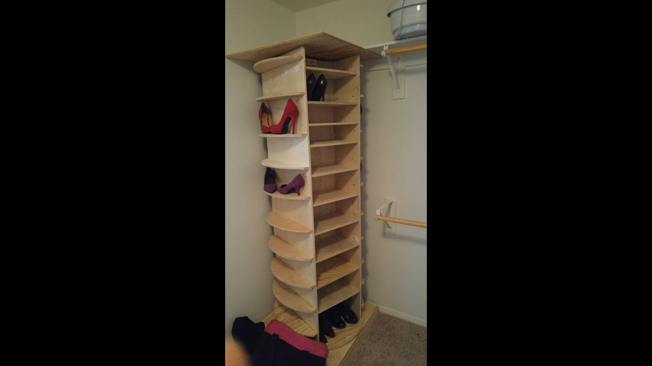 Diy Lazy Susan Shoe Rack Youtube