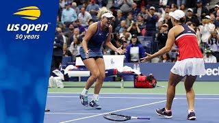 Match Point Celebration:  Ashleigh Barty and CoCo Vandeweghe