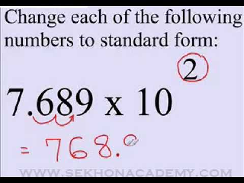 Scientific Notation to Standard Form - YouTube