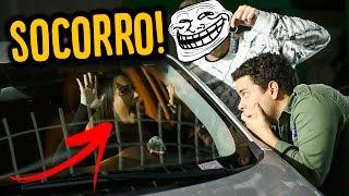 PRENDI MINHA AMIGA NO CARRO E ELA FICOU DESESPERADA !!!