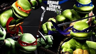 GTA 5 Mods  TEENAGE MUTANT NINJA TURTLES MOD! (GTA 5 Mod Gameplay)