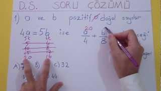 Doğal Sayılar Soru Çözümü Şenol Hoca Matematik