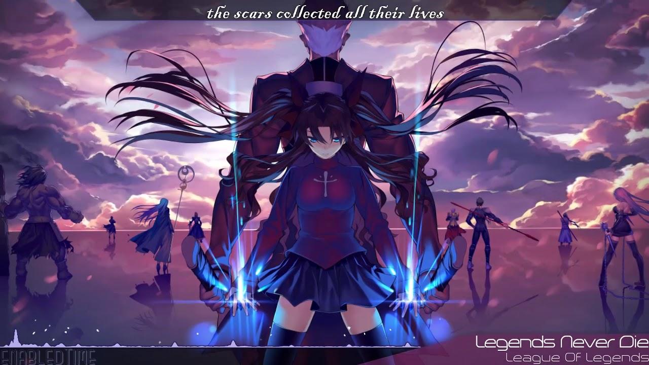 Anime Dubstep Wallpaper Nightcore Legends Never Die Youtube