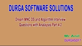 Dream MNC DS and Algorithm Interview Questions with Analysis Part 4 2