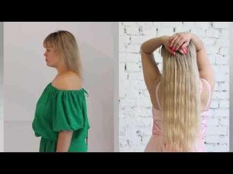 Наращивание волос лучшее Киев. До-после видео. На короткие, средние,  редкие волосы  сколько нужно.