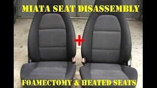 Mazda Miata Foamectomy & Seat Heater Install