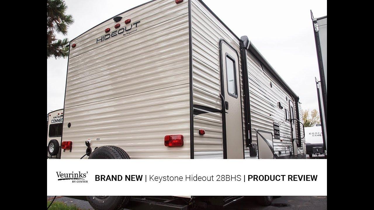 2018 Keystone Hideout 28BHS   Bunkhouse Travel Trailer   Veurinks' RV Center