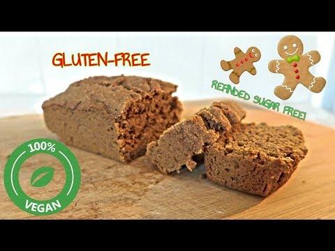 GLUTEN FREE VEGAN GINGERBREAD LOAF CAKE! #REFINEDSUGARFREE  #SOYFREEVEGAN