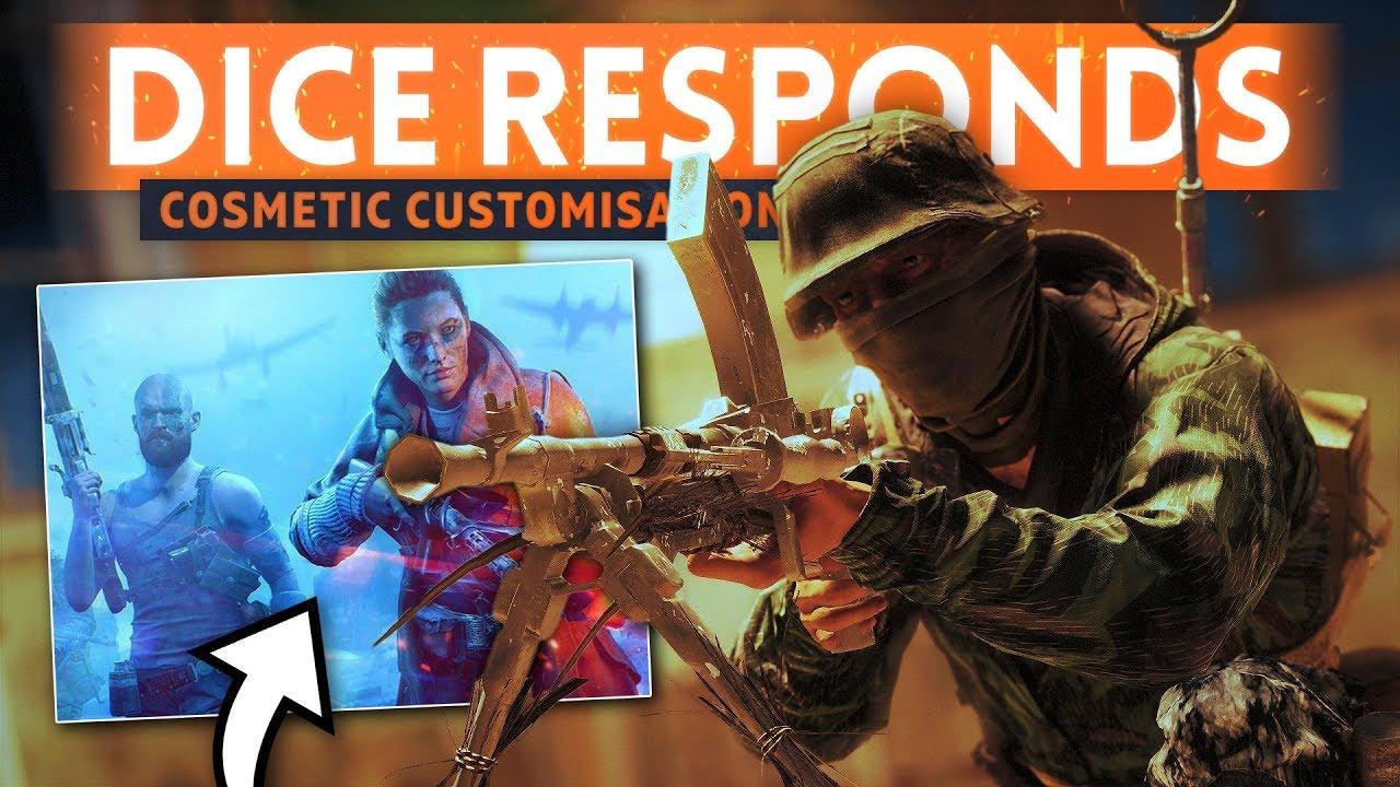 DICE RESPONDS TO COSMETIC CUSTOMIZATION CONTROVERSY! - Battlefield 5 Interview w/ Aleks Grøndal