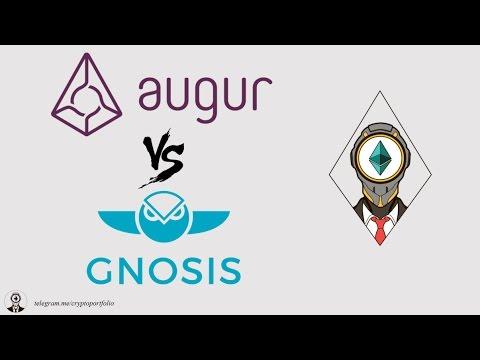 Gnosis vs Augur comparison (REP tokens, GNO tokens)