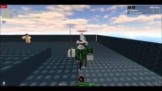 Possedere QuackerQuang in un combattimento con la spada (Roblox)