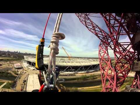 Dave abseiling down the Arcelormittal Orbit