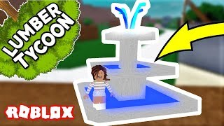 How to make a BEAUTIFUL fountain!!!! - Lumber Tycoon 2 - Roblox