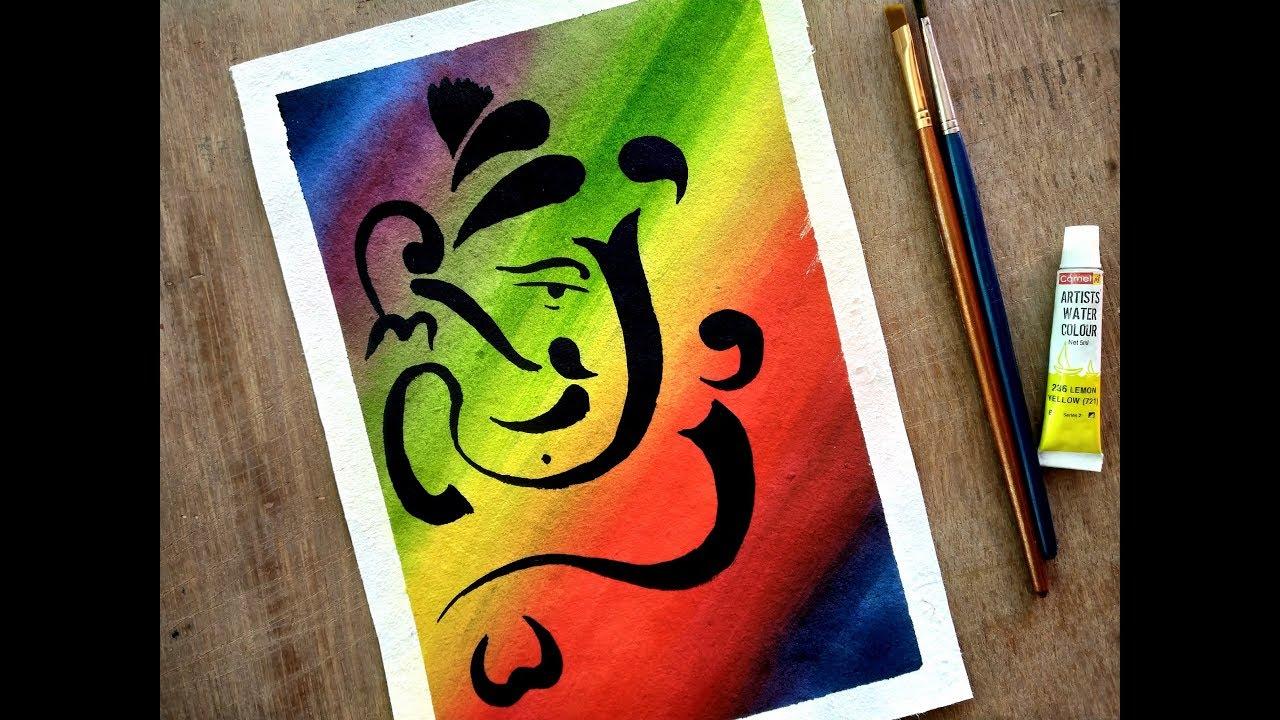 Ganesha Ganeshadrawing Ganesha Painting With Watercolor Paint With David