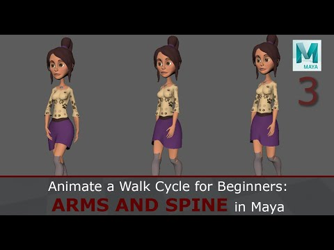 Animate A Walk Cycle For Beginners: Spine And Arms