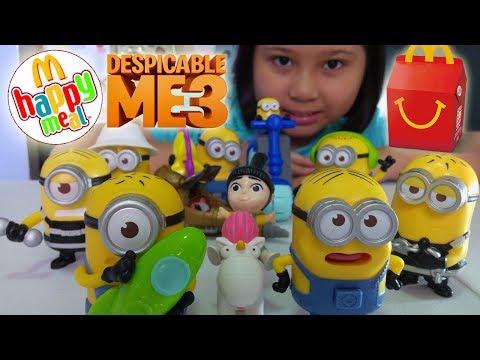 2017 McDonald's Happy meal Despicable me 3 toys (complete set)