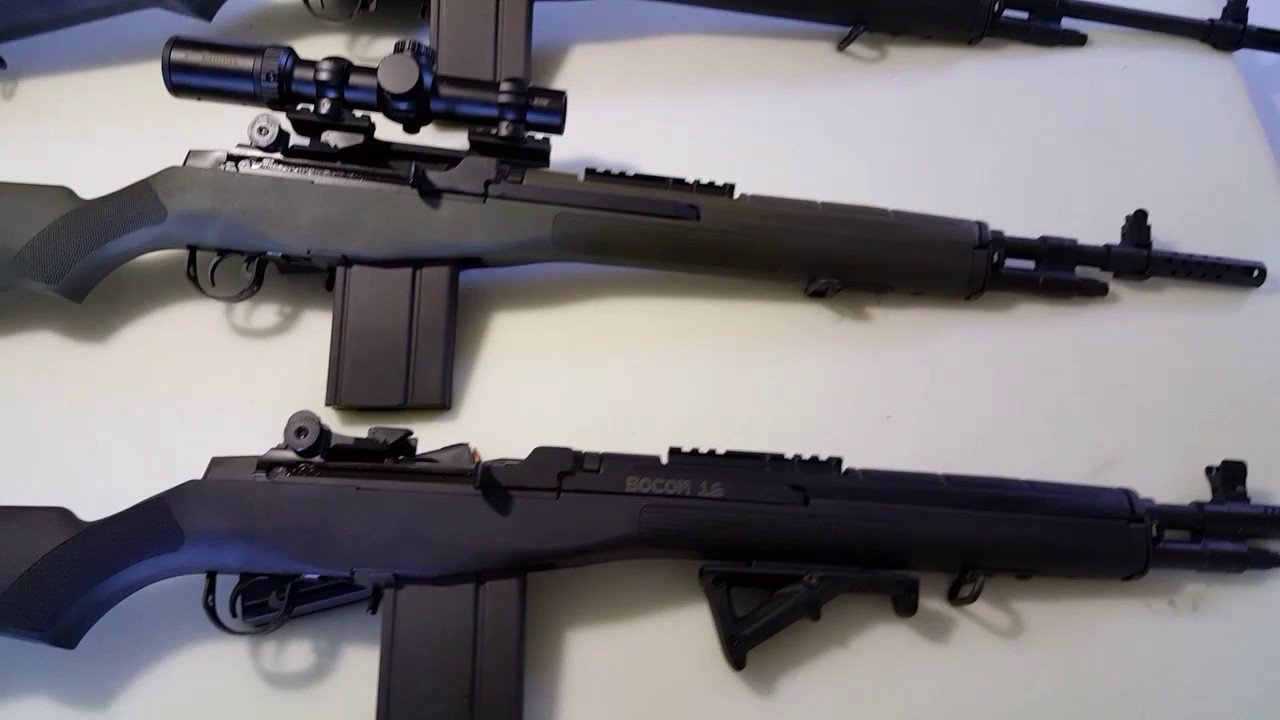 M1a Scout Squad Vs M1a Loaded Vs M1a Socom 16