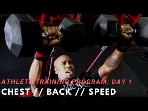 Athlete Training Program Day 1- Chest Back Speed Training