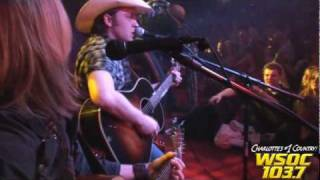 103.7 WSOC: Justin Moore performs at Stout Pull 2010