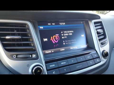 Radio station logos in Hyundai Tucson 2016