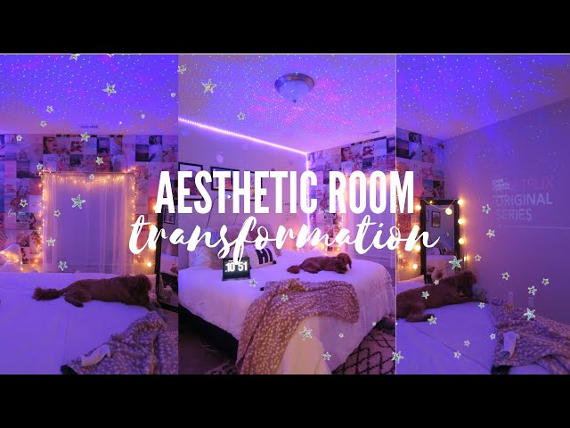 aesthetic bedroom transformation // *tiktok + pinterest inspired*