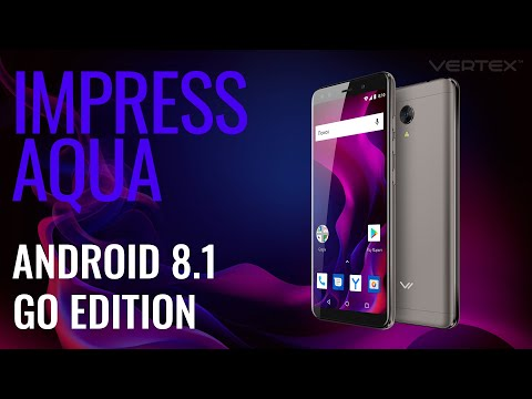 Обзор смартфона Vertex Impress Aqua на Android 8.1 Go Edition