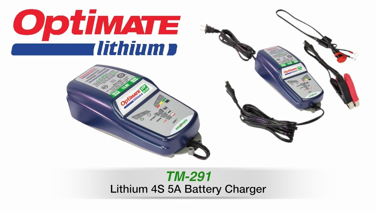 Optimate Lithium 4s 5a Battery Charger Feat Tm 291 Youtube