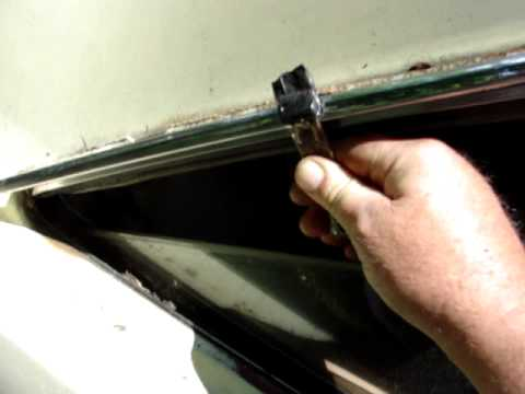 1969 Dodge Dart Custom Removing Drip Rail With Old Church