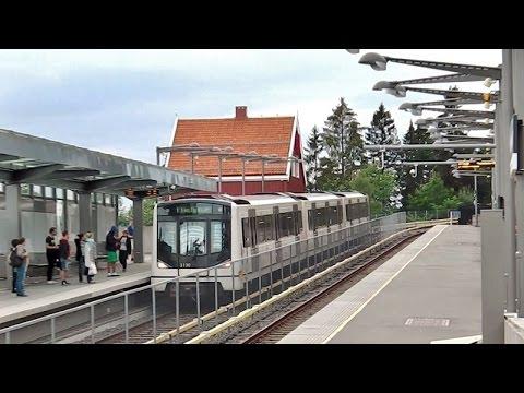 Holmenkollen mit der Osloër U-Bahn (T-bane) und Eindrücke der Ski-Schanzen +Oslo-Panoramablick