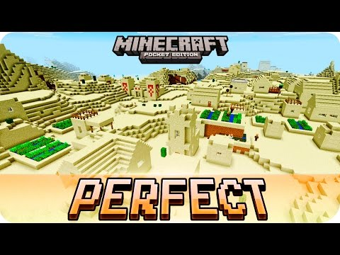 Minecraft PE Seeds - Perfect Desert Seed with 3 Villages and 2 Temples - 1.1 / 1.0 MCPE