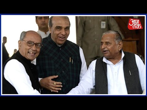 Mulayam Singh Arrives  Parliament For Budget