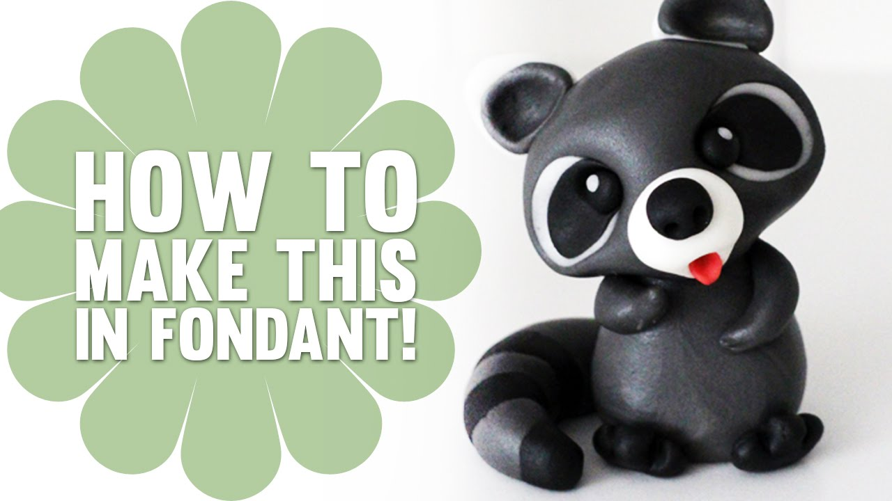 How To Make A Cute Fondant Raccoon Cake Decorating