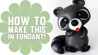 How to Make a Cute Fondant Raccoon - Cake Decorating Tutorial