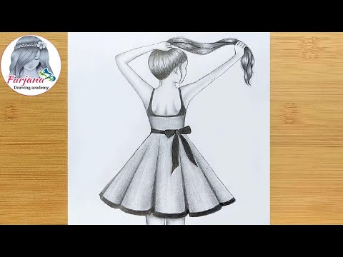 easy-way-to-draw-a-girl-with-long-hair-for-beginners---step-by-step-  -pencil-sketch