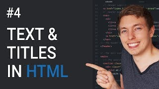 Learn to create titles and text using html - css tutorial. in this lesson you will how html. do we wil...
