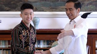 Presiden Jokowi Menerima Rapper Rich Brian, Istana Bogor, 7 Juli 2019