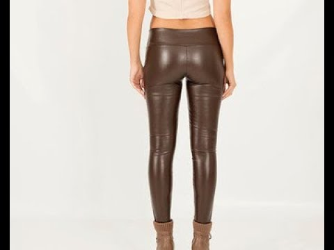 8d9828e98908a7 Brown Faux Leather Pants - YouTube